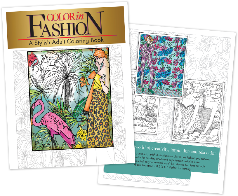 Color in Fashion Coloring Book