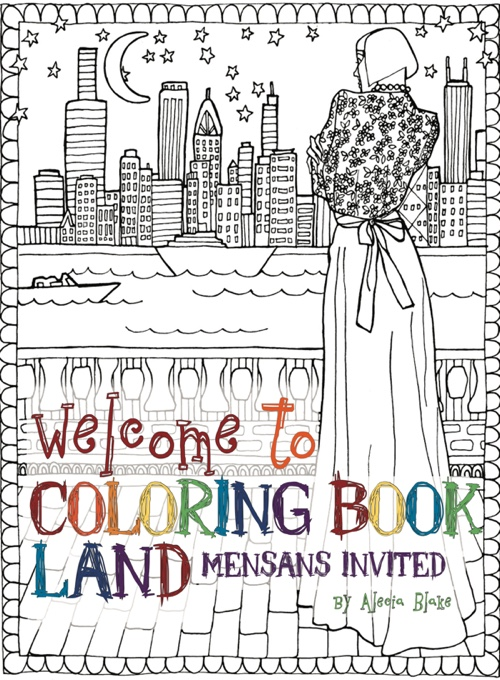 """Welcome To Coloring Book Land"" by Alecia Blake - Mensa Bulletin, July 2017"