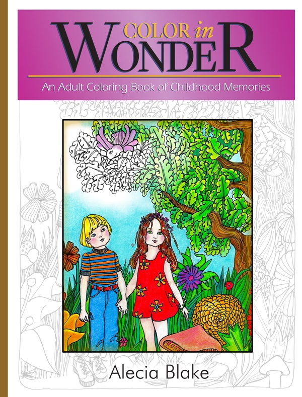 "Cover of the coloring book ""Color in Wonder"" by Alecia Blake"