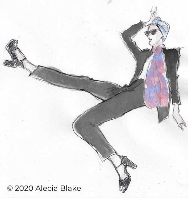 Fashion illustration by Alecia Blake